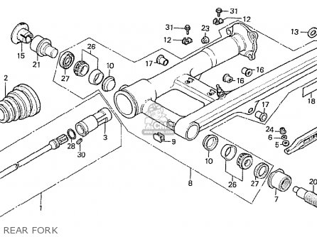 Honda Cx500t Turbo 1982 c Germany Rear Fork