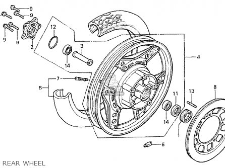 Honda Cx500t Turbo 1982 c Germany Rear Wheel