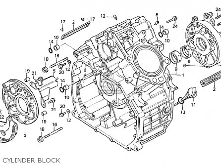 Honda Cx500t Turbo 1982 c Italy Cylinder Block