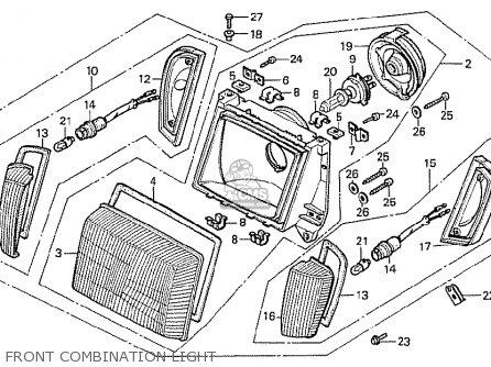 Honda Cx500t Turbo 1982 c Italy Front Combination Light