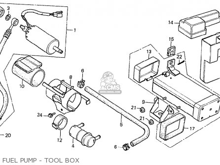 Honda Cx500t Turbo 1982 c Italy Fuel Pump - Tool Box