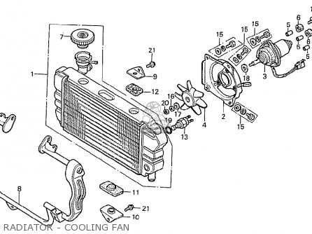 Honda Cx500t Turbo 1982 c Italy Radiator - Cooling Fan
