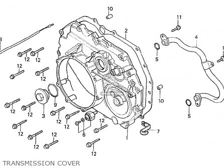 Honda Cx500t Turbo 1982 c Italy Transmission Cover