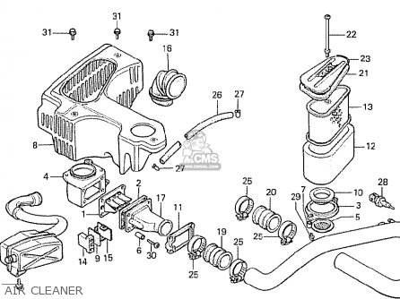 Honda Cx500t Turbo 1982 c Netherlands Air Cleaner