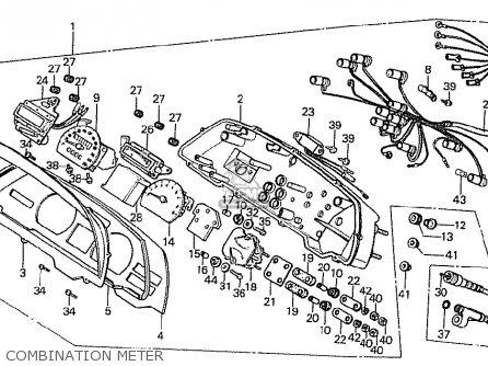 Honda Cx500t Turbo 1982 c Netherlands Combination Meter
