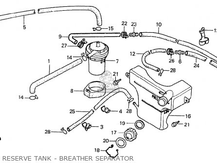 Honda Cx500t Turbo 1982 c Netherlands Reserve Tank - Breather Separator