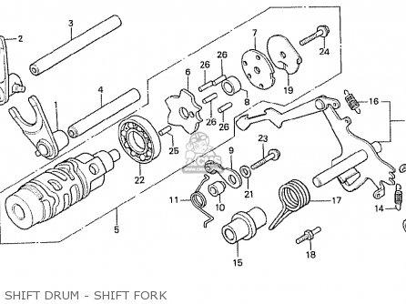 Honda Cx500t Turbo 1982 c Switzerland Shift Drum - Shift Fork