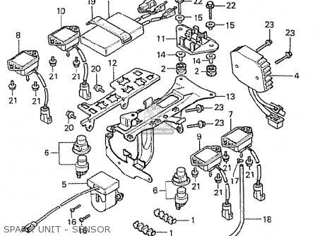 Honda Cx500t Turbo 1982 c Switzerland Spark Unit - Sensor