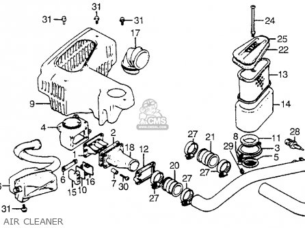 Honda Cx500t Turbo 1982 c Usa Air Cleaner