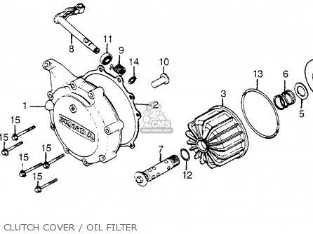 Honda Cx500t Turbo 1982 c Usa Clutch Cover   Oil Filter