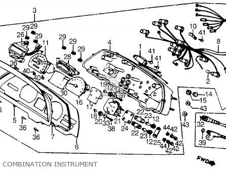 Honda Cx500t Turbo 1982 c Usa Combination Instrument