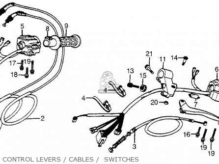 Honda Cx500t Turbo 1982 c Usa Control Levers   Cables    Switches