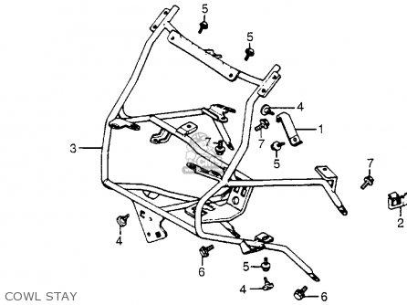 Honda Cx500t Turbo 1982 c Usa Cowl Stay