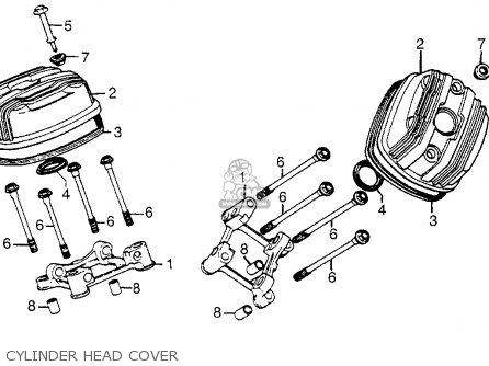 Honda Cx500t Turbo 1982 c Usa Cylinder Head Cover