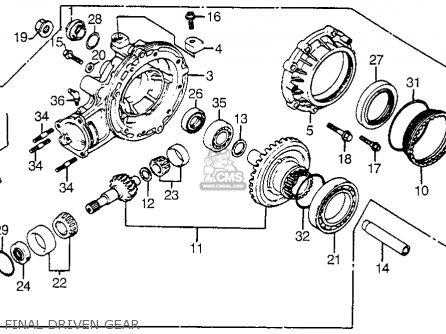 Honda Cx500t Turbo 1982 c Usa Final Driven Gear
