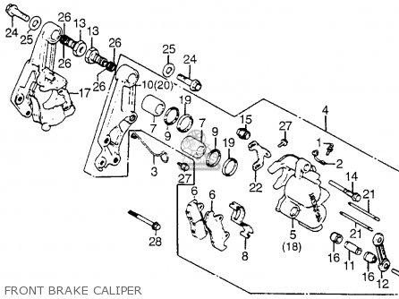 Honda Cx500t Turbo 1982 c Usa Front Brake Caliper