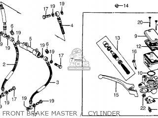 Honda Cx500t Turbo 1982 c Usa Front Brake Master    Cylinder
