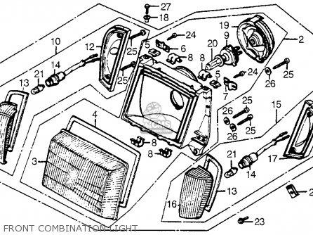 Honda Cx500t Turbo 1982 c Usa Front Combination Light
