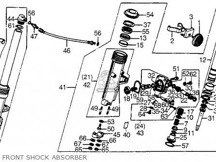 Honda Cx500t Turbo 1982 c Usa Front Shock Absorber