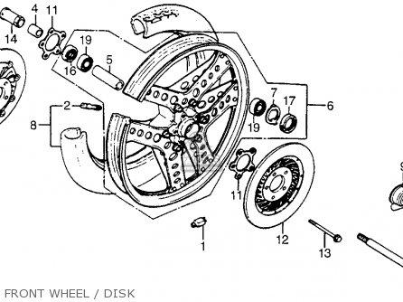 Honda Cx500t Turbo 1982 c Usa Front Wheel   Disk