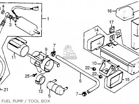 Honda Cx500t Turbo 1982 c Usa Fuel Pump   Tool Box