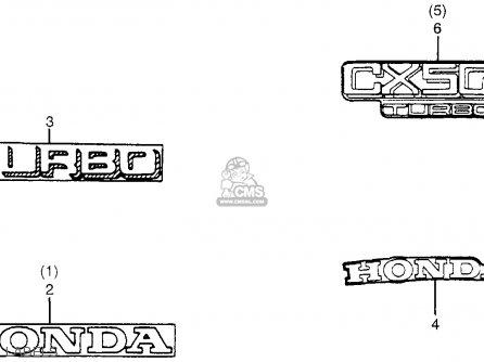 Honda Cx500t Turbo 1982 c Usa Labels
