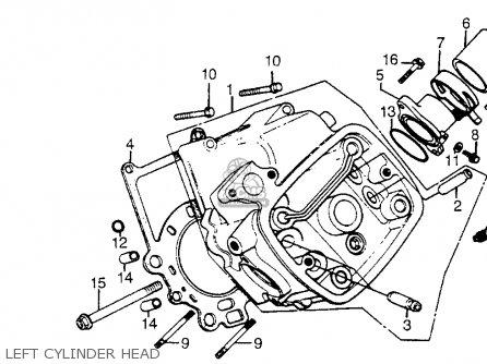 Honda Cx500t Turbo 1982 c Usa Left Cylinder Head
