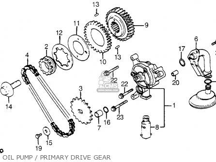 Honda Cx500t Turbo 1982 c Usa Oil Pump   Primary Drive Gear