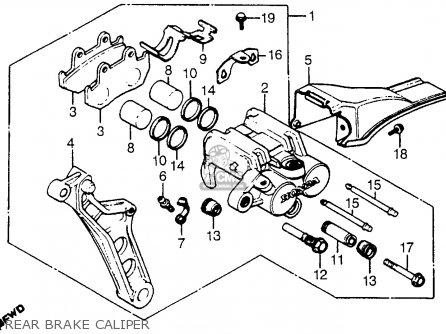 Honda Cx500t Turbo 1982 c Usa Rear Brake Caliper
