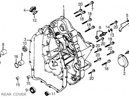 Honda Cx500t Turbo 1982 c Usa Rear Cover