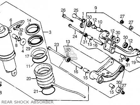 Honda Cx500t Turbo 1982 c Usa Rear Shock Absorber