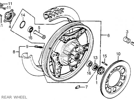 Honda Cx500t Turbo 1982 c Usa Rear Wheel
