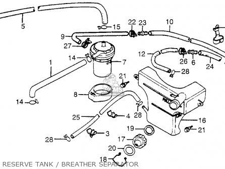 Honda Cx500t Turbo 1982 c Usa Reserve Tank   Breather Separator
