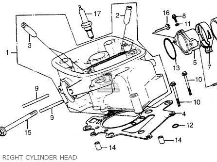 Honda Cx500t Turbo 1982 c Usa Right Cylinder Head