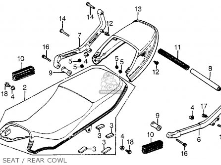Honda Cx500t Turbo 1982 c Usa Seat   Rear Cowl
