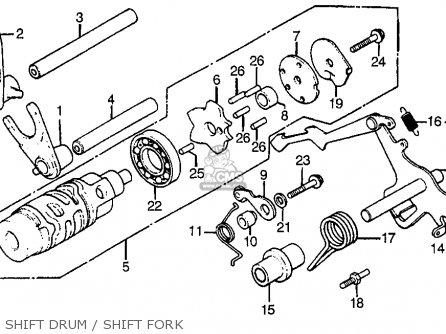 Honda Cx500t Turbo 1982 c Usa Shift Drum   Shift Fork