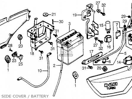 Honda Cx500t Turbo 1982 c Usa Side Cover   Battery