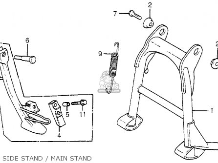 Honda Cx500t Turbo 1982 c Usa Side Stand   Main Stand