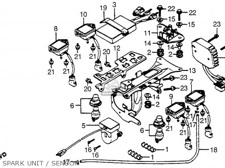 Honda Cx500t Turbo 1982 c Usa Spark Unit   Sensor