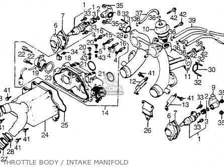 Honda Cx500t Turbo 1982 c Usa Throttle Body   Intake Manifold