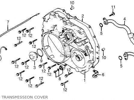 Honda Cx500t Turbo 1982 c Usa Transmission Cover
