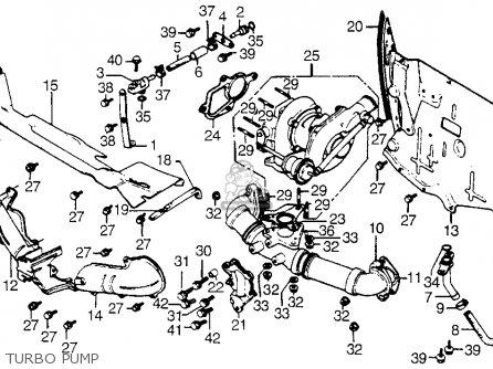 Honda Cx500t Turbo 1982 c Usa Turbo Pump