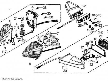 Honda Cx500t Turbo 1982 c Usa Turn Signal