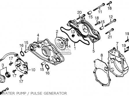 Honda Cx500t Turbo 1982 c Usa Water Pump   Pulse Generator