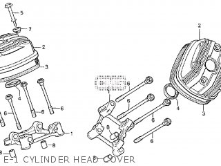 Honda Cx500tc 1982 c E-1 Cylinder Head Cover