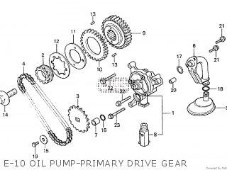 Honda Cx500tc 1982 c E-10 Oil Pump-primary Drive Gear