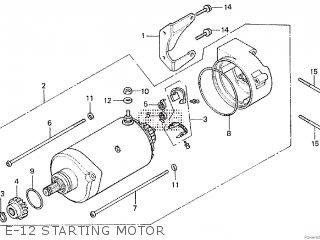 Honda Cx500tc 1982 c E-12 Starting Motor
