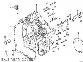 Honda Cx500tc 1982 c E-13 Rear Cover