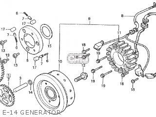 Honda Cx500tc 1982 c E-14 Generator