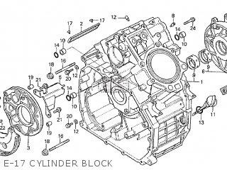 Honda Cx500tc 1982 c E-17 Cylinder Block